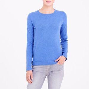 J.Crew Blue Teddi Sweater Cotton Wool